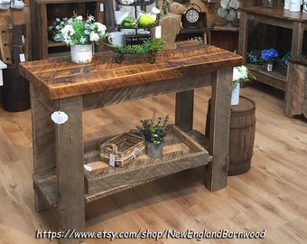 Kitchen Island, Farm Table, LOCALPICKUPONLY, Farmhouse Table, Kitchen Cart,  Rustic Dining Table, Butcher Block Island, Side Table, Table