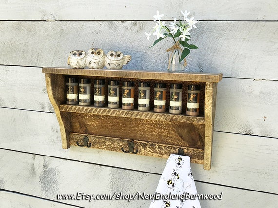 Wood Spice Rack For Wall Impressive Rustic Wood Spice Rack Wooden Spice Rack Spice Rack Wall