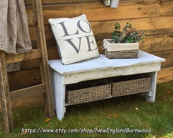 Rustic Bench, Entryway Bench,Bench, LOCAL PICKUP ONLY, Hallway Bench, Storage Bench, Meditation Bench, Wood Bench, Shoe Storage Bench