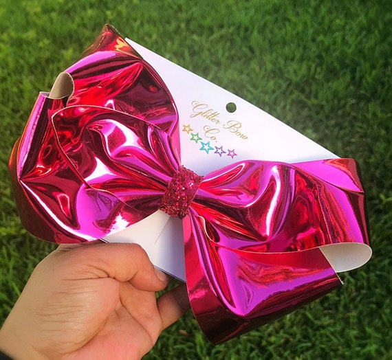 Hot Pink Mirror Southern Bow, Jumbo Hair Bow