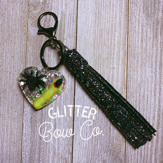 Halloween Keychain, Backpack Keychain, Glitter Keychain, Purse Bling, Bling Keychain, Creepy, Heart Keychain, Dead Finger, Spider,