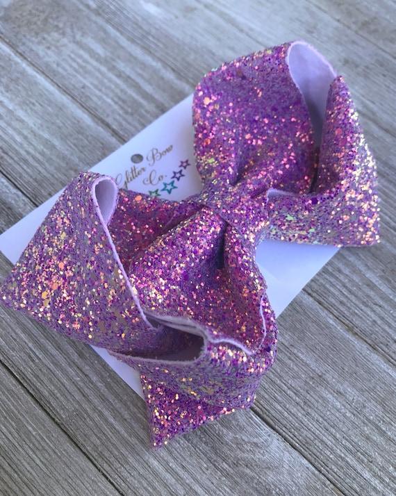 Lavender Glitter Southern Bow, Jumbo Hair Bow