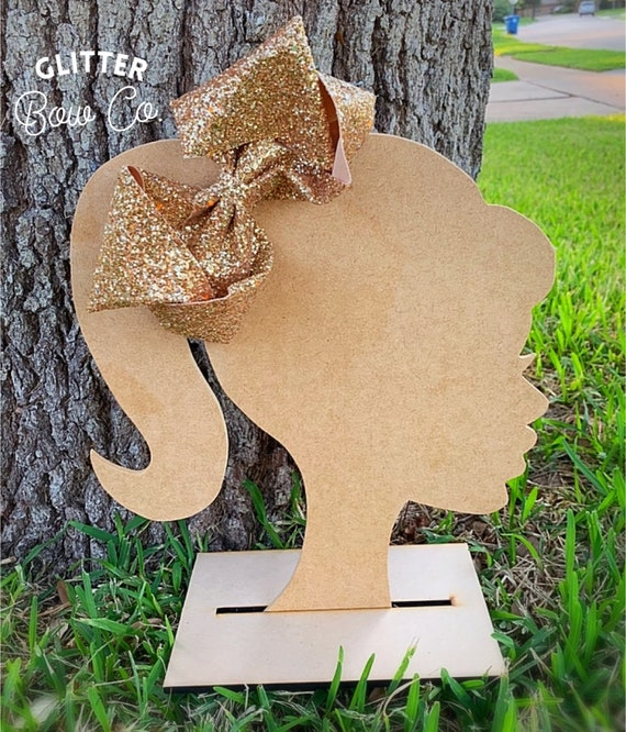 Gold Glow in the Dark Glitter Bow - Jumbo Hair Bow - Halloween Southern Bow
