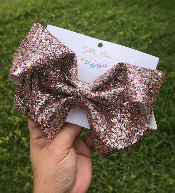 Rainbow Glitter Southern Bow, Jumbo Hair Bow