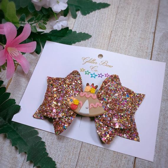 Fall Glitter Hair Bow - Southwestern Native American Themed Bow
