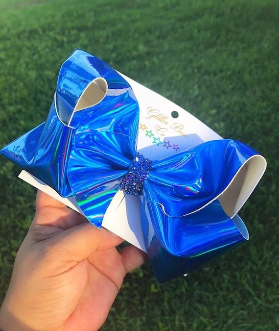 Blue Mirror Southern Bow, Jumbo Hair Bow
