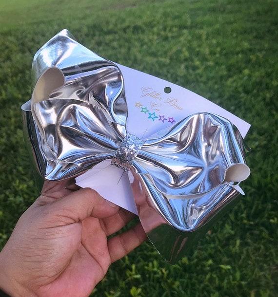 Silver Mirror Southern Bow, Jumbo Hair Bow,