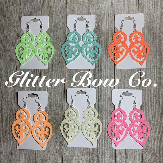 Glow in the Dark Earrings, You Choose Color and Finish