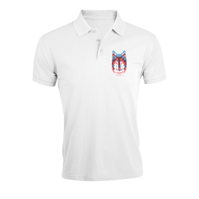 Be The Wolf Not The Sheep Blurry Art Regular Fit Polo T-Shirt