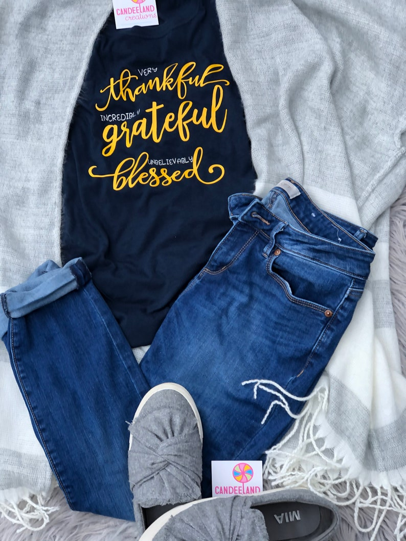 Inspirational Shirt Thankful and Blessed Shirt Thanksgiving Shirts Greatful Shirt Thankful Shirt Blessed Fall Shirt