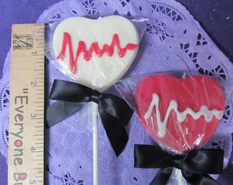 Medical Nurse Doctor HeartBeat 24 chocolate lollipops