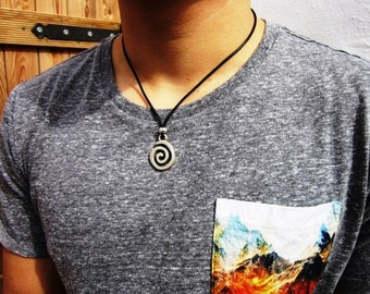 gifts for men silver pendant mens necklace