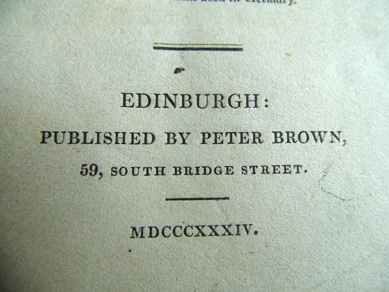 PITSLIGO Antique Scottish heraldry engraving 1834 mounted print family coat of arms