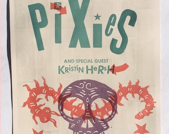 Pixies concert poster by Hugh d'Andrade