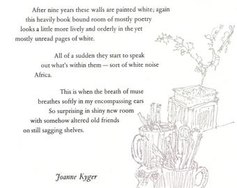 """Joanne Kyger """"New Smell in the Writing Room"""""""
