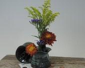 Ikebana Vase - Bud Vase - Blue Glaze - Free Shipping- Vase - Ikebana Container - Bud Vase -
