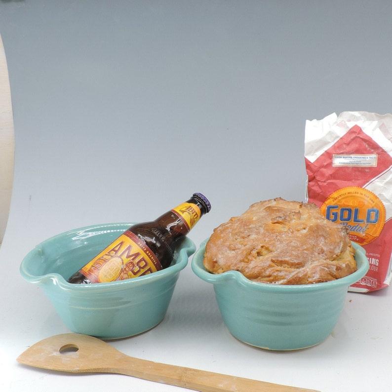 Bread Pot Turquoise Glaze Beer Bread Baking Pot Recipes image 0
