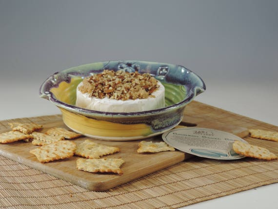 Brie Baker with recipe handmade baking dish