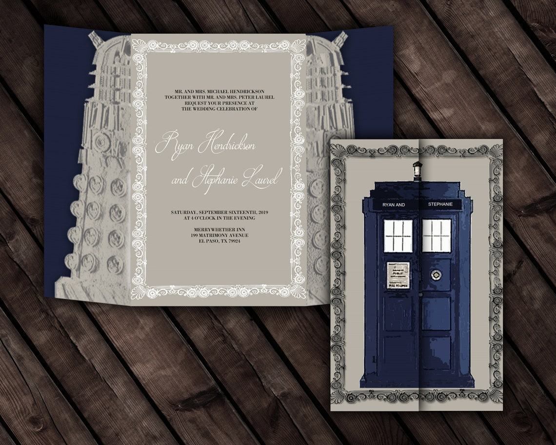 Doctor Who Inspired Invitation Template