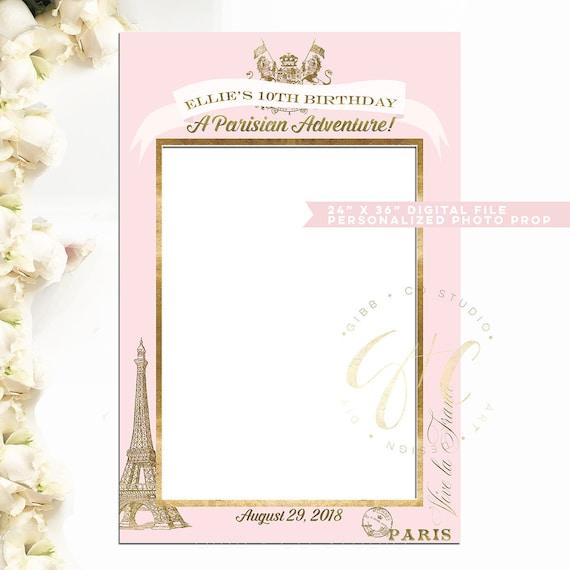 Passport to Paris Photo Prop Frame DIGITAL file blush pink | Etsy