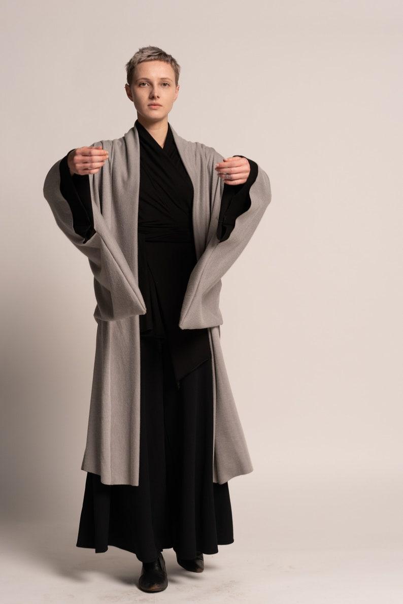 Japanese Kimono jacket for women Black quilt Unisex Haori Jacket Black Coat Oversized Coat with detailed sleeves Black Haori Jacket