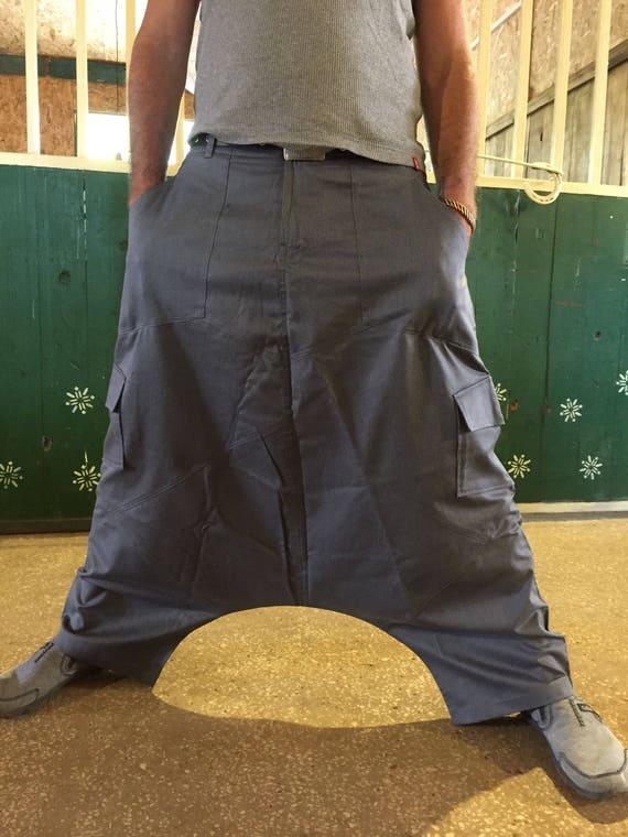Harem Man's Men's Wear Gift Denim Men Blue for Gifts Harem Harem Festival Crotch Men's Trousers Pants Pants Christmas Drop Him Pants ar5qfrw