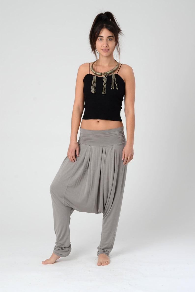 c2b2e57d1b570 Harem pants Women Drop Crotch Pants Long Unisex Comfortable | Etsy