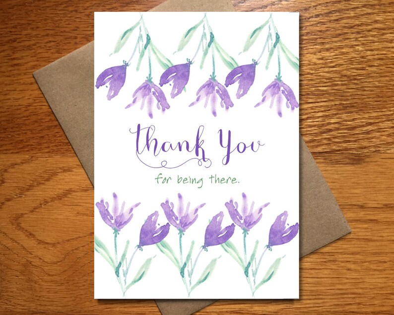 Every Day Spirit / Watercolor Thank You For Being There Card / image 0
