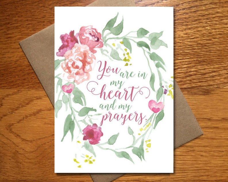Every Day Spirit / Watercolor Sympathy Card / Floral image 0