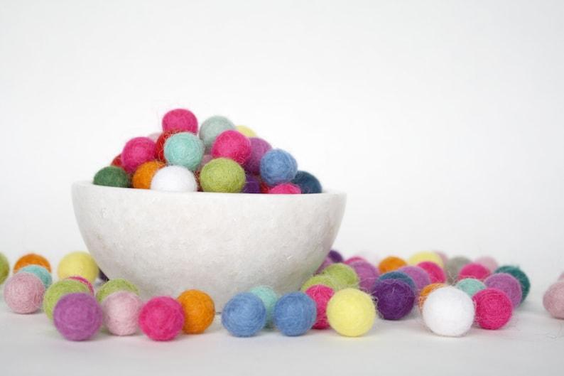 1 cm Felt Balls Felted Wool Balls Handmade Wool Felt Balls image 0