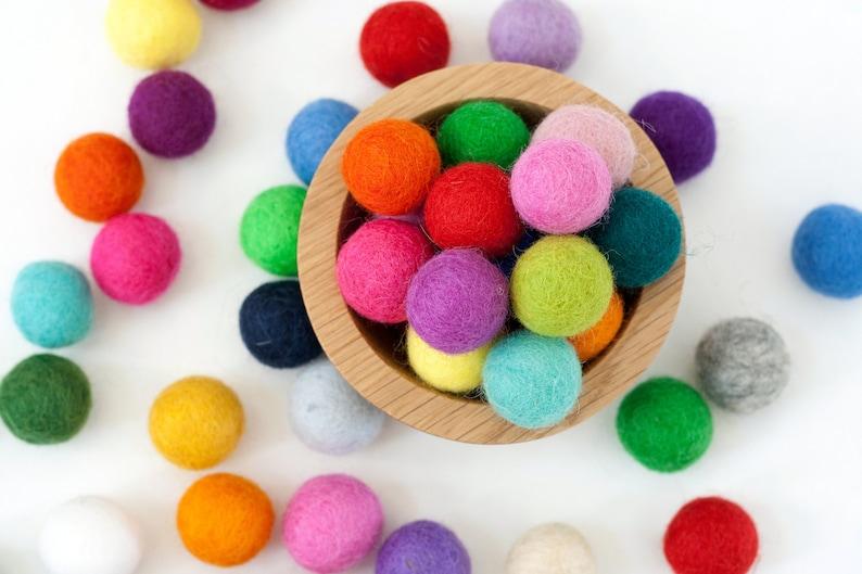 2 cm Wool Felt Balls  Choose Your Own Colors  Pom Pom Balls image 0