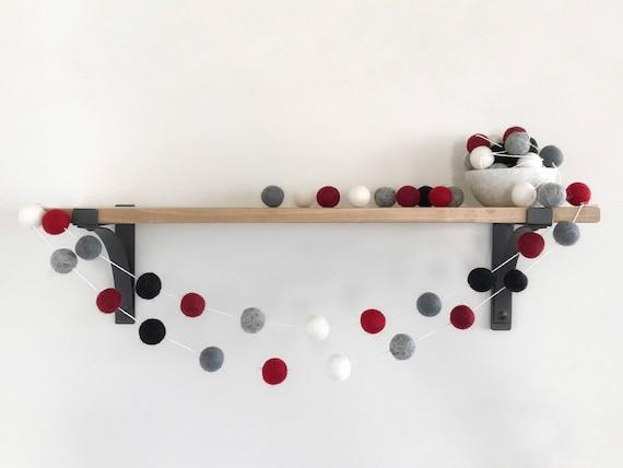 plaid de no l boule guirlande guirlande de vacances pom. Black Bedroom Furniture Sets. Home Design Ideas