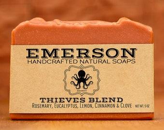 100% Natural Thieves Blend Soap • Vegan Soap, Palm Free Soap, All Natural Soap, Handmade Soap, 4 Thieves, Four Thieves, Zero Waste