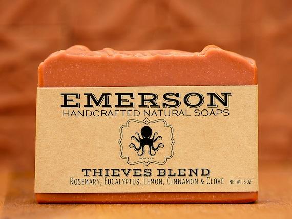 100 % naturel voleurs mélange savon • végétalien au savon, savon sans palme, savon naturel, savon à la main, 4 voleurs, quatre voleurs, zéro déchet