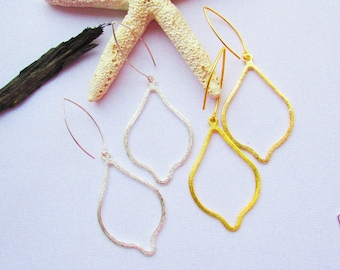 Marquise Dangle Drop Earrings In Gold and Silver