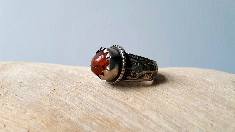 Antique Handmade Amber Tribal Ring