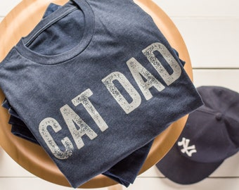 Cat Dad T-Shirt   Cat Daddy   Cat Lover   Fathers Day   Gifts for him   Dad Gifts