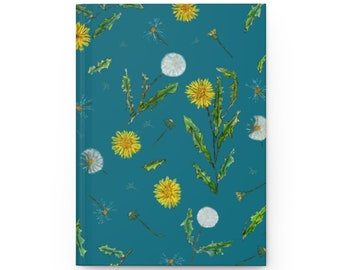 Teal Hardcover Dandelion Design Every Day Journal