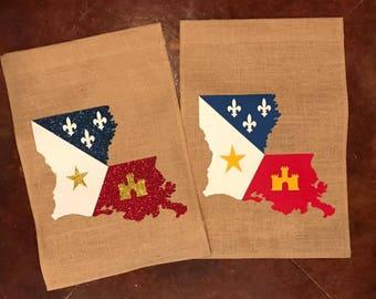 425453ea457702 Louisiana Acadiana Garden Flag