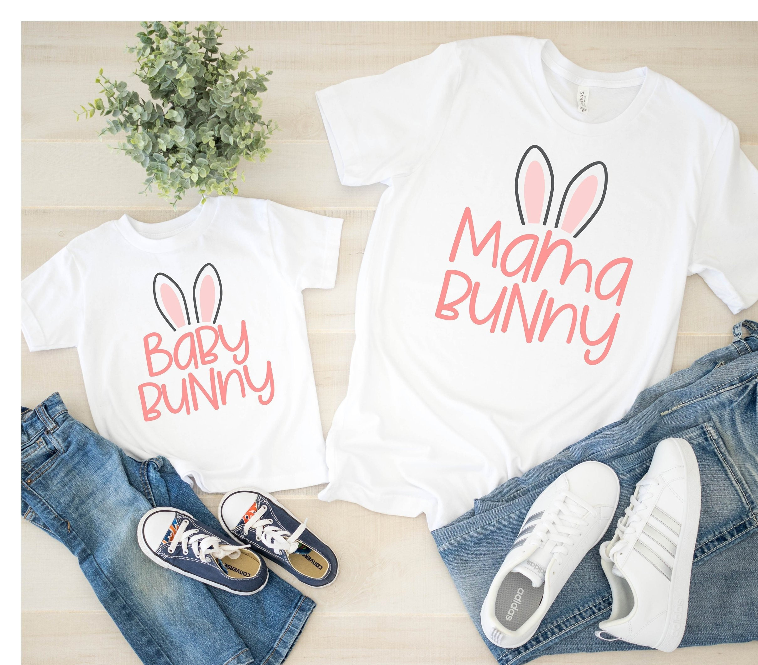Mama Bunny & Baby Bunny Matching Shirts   Mother Daughter Shirts   Matching Easter   Easter Shirts   Easter Bunny   Mom And Daughter