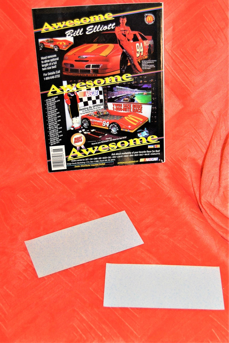 Winston Cup Illustrated June 1995 With Kyle Petty on Cover Plus Two #44 Bumper Stickers