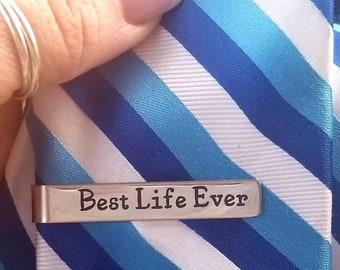 Jw-JW tie clip-Best life ever tie bar-stainless steel- Always Rejoice-2020/Jw gifts-Jw gift for brother -Jw gift for pioneer - Jw elder gift