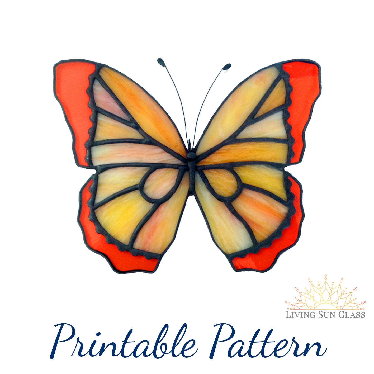 photograph about Printable Stained Glass Patterns named Butterfly Stained Gl Routine - Printable Electronic Obtain PDF - Novice Stained Gl Habit