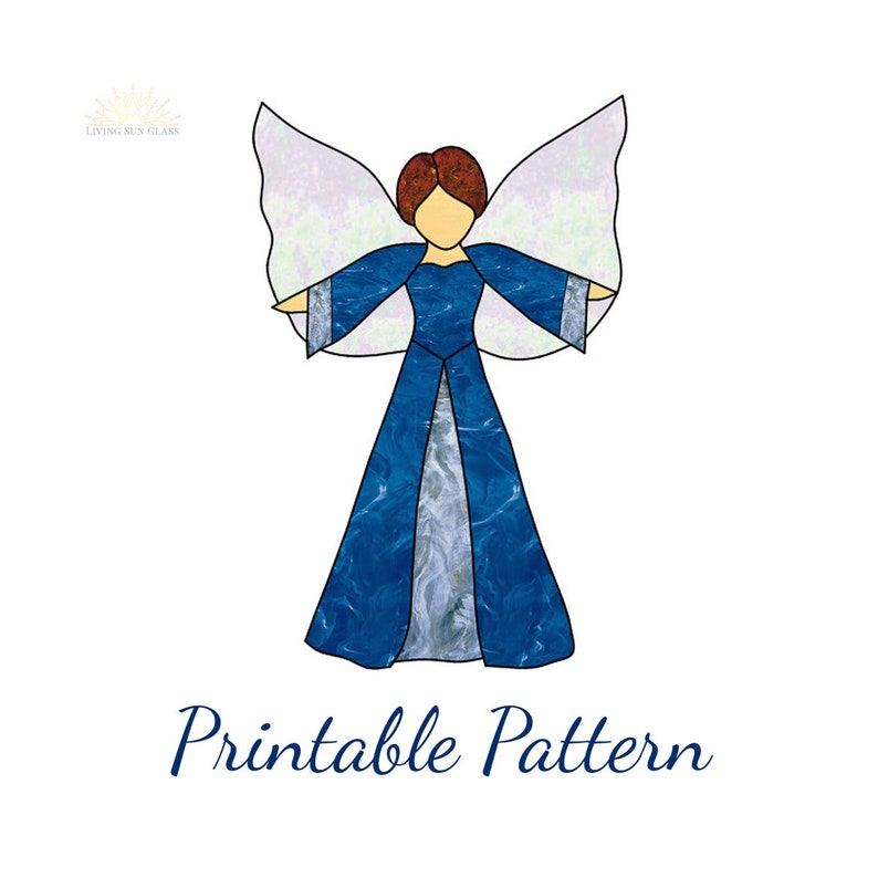 Stained Glass Angel Pattern Easy Stained Glass Angel Design Etsy