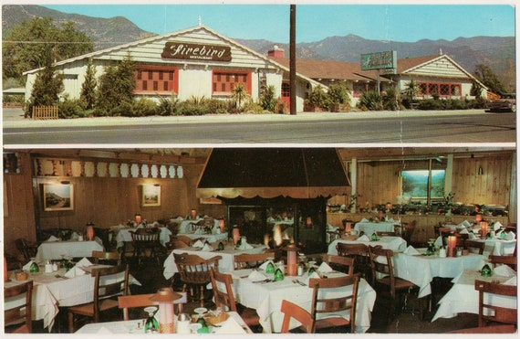 Fire Bird Restaurant Ojai California Vintage Postcard