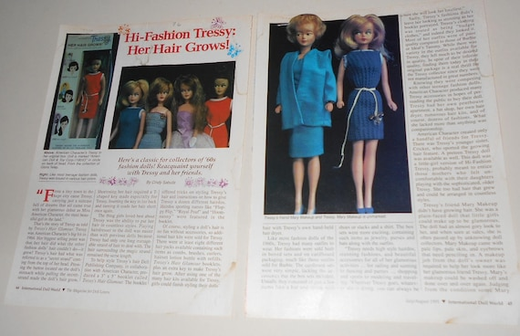 Tressy Her Hair Grows Doll Magazine Article Pages Etsy