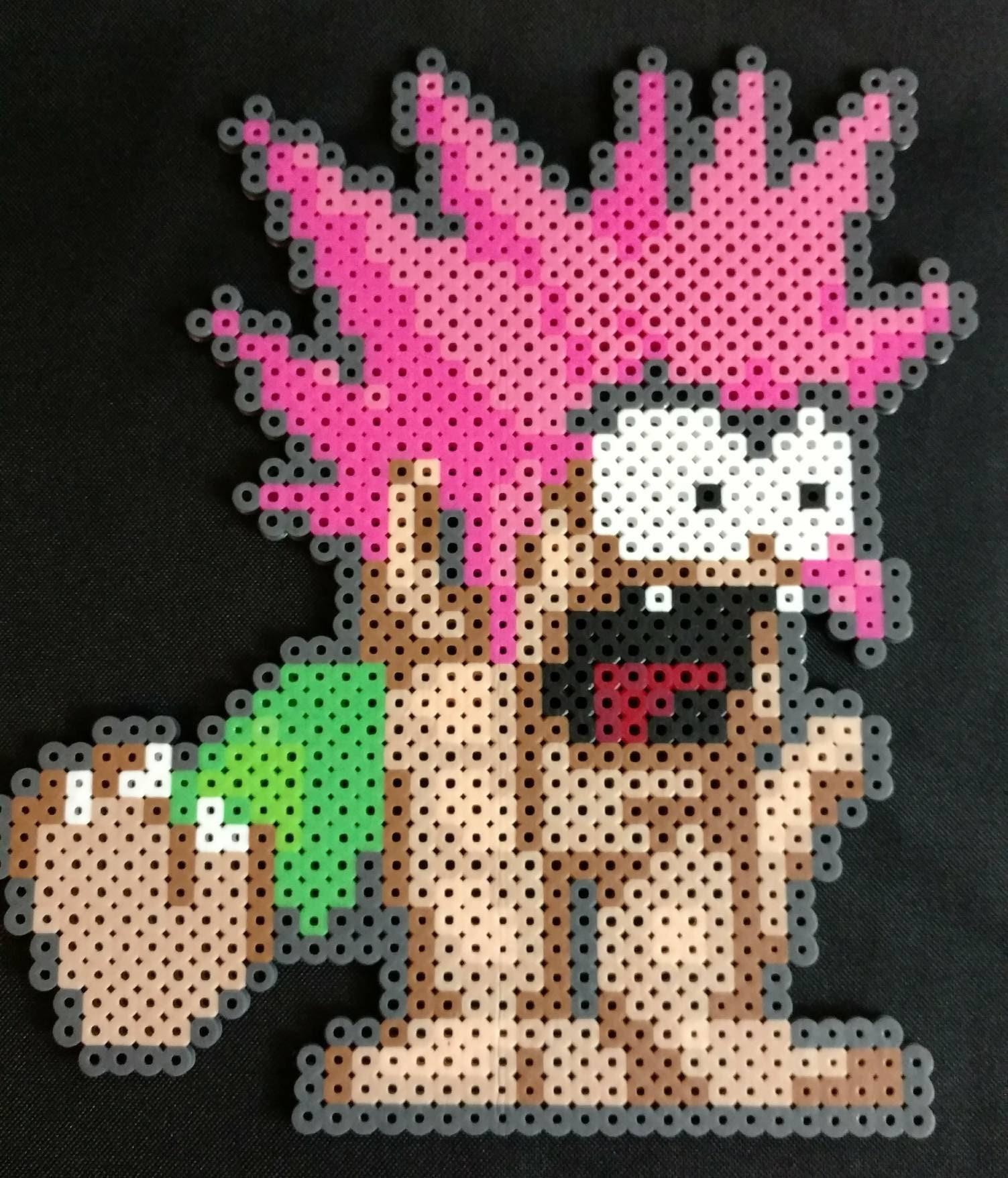Tomba Tombi perler bead pixel art sprite 8