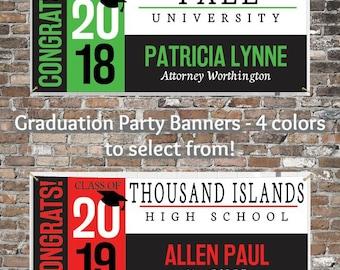 Graduation Banner, Graduation Party Supplies