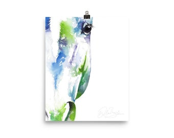 no. 16 0f 30 horse artwork glicee print.