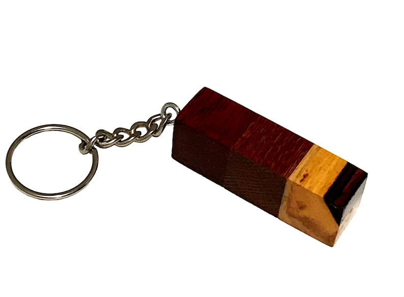 Elder Magic Bloodwood trees keychain; Exotic wood key chain; Runescape inspired charm key ring; 99 wc; Natural oil finish;